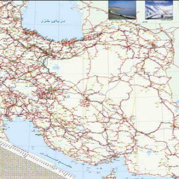 نقشه راههای ایران با بزرگنمایی بی نهایت + دانلود